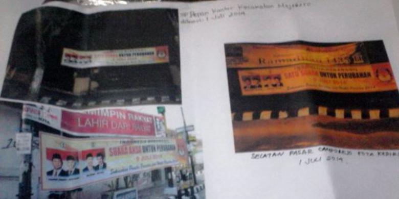 KOMPAS.com/M Agus Fauzul Hakim Beberapa contoh spanduk sosialisasi ...