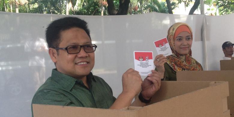 Ketua Umum Partai Kebangkitan Bangsa Muhaimin Iskandar, beserta ...