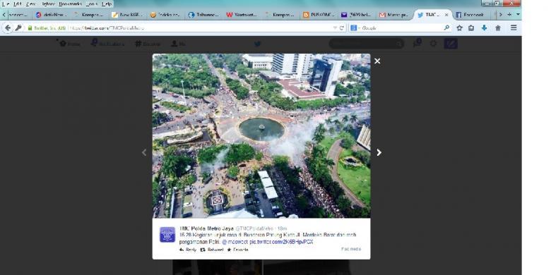 Kawasan Patung Kuda Arjuna Wiwaha Jakarta Pusat Kamis 2182014