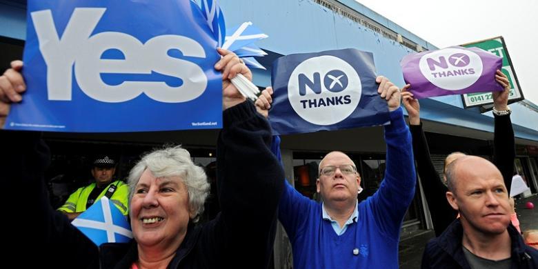 Warga Inggris: Jangan Pergi, Kami Menyayangi Kalian Skotlandia