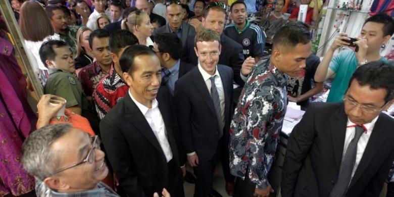 Diajak Jokowi 'Blusukan' ke Tanah Abang, Marc Zuckerberg Mandi Keringat