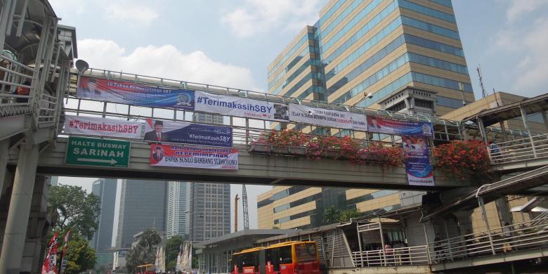 Di Jalur Kirab Budaya Jokowi, Spanduk untuk SBY Lebih Mendominasi