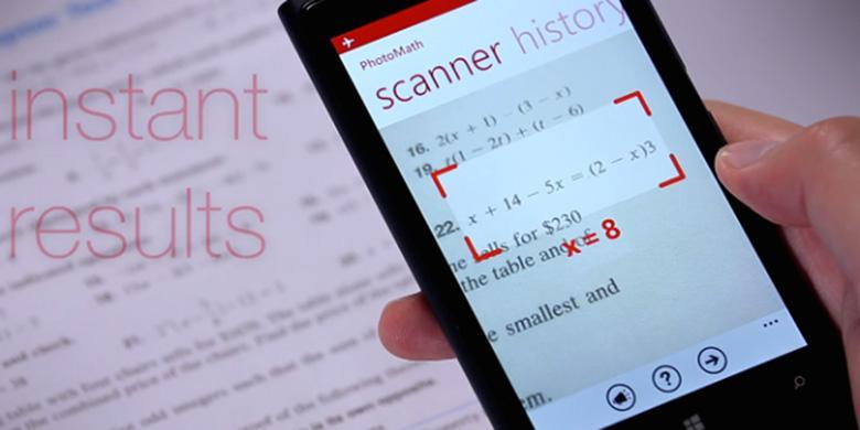 Hitung Soal Matematika Pakai Kamera Ponsel