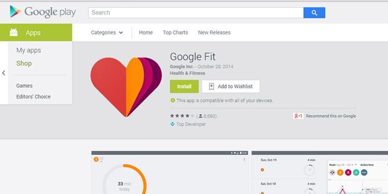 Download Aplikasi kesehatan Google Fit untuk Android