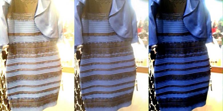 "1939035warna gaun780x390 » Kilas Balik Geger ""The Dress"", Jangan Sampai Tertipu Warna!"