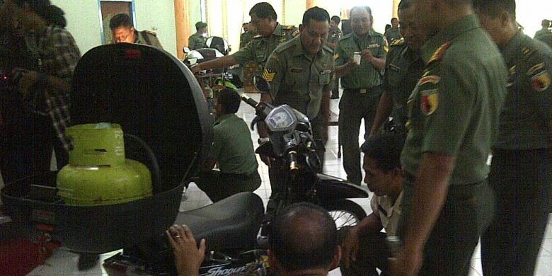 Begini Cara Prajurit TNI Rancang Sepeda Motor BBG