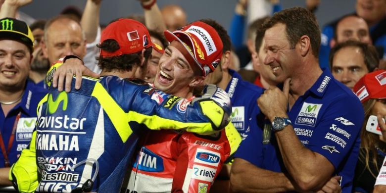 Podium Perdana Iannone di MotoGP