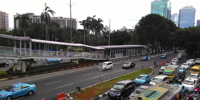 Halte Transjakarta Polda Metro Masih Beroperasi