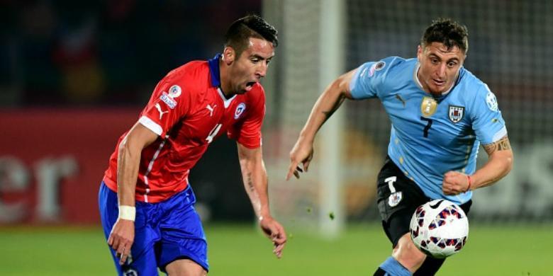 Dua Kartu Merah, Juara Bertahan Uruguay Kandas oleh Cile