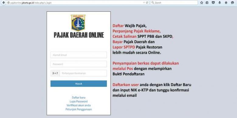 """Pajak Online: Keuntungan Untuk Warga Jakarta Dengan Sistem Pajak """"Online"""