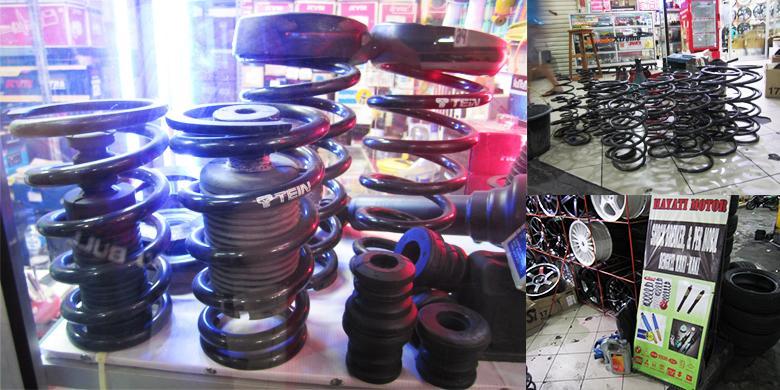 ... Hayati Motor, bengkel spesialis per di Mall Mega Glodok Kemayoran
