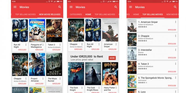 Asyik, Kini Bisa Beli Film di Google Play Store Indonesia    KOMPAS TEKNO