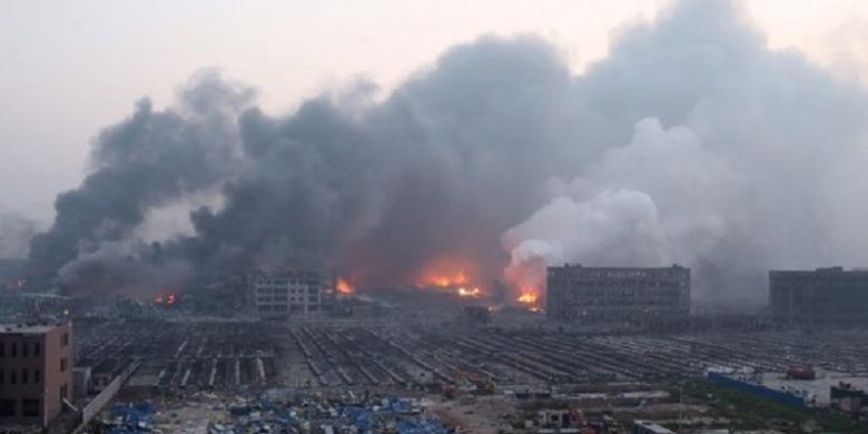 Ledakan di Kota Pelabuhan China Tewaskan 17 Orang