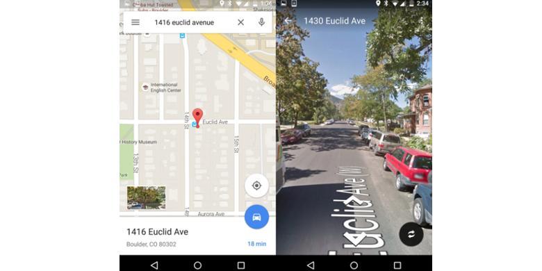 Google Street View di Android Sudah Tidak Ribet |  KOMPAS TEKNO