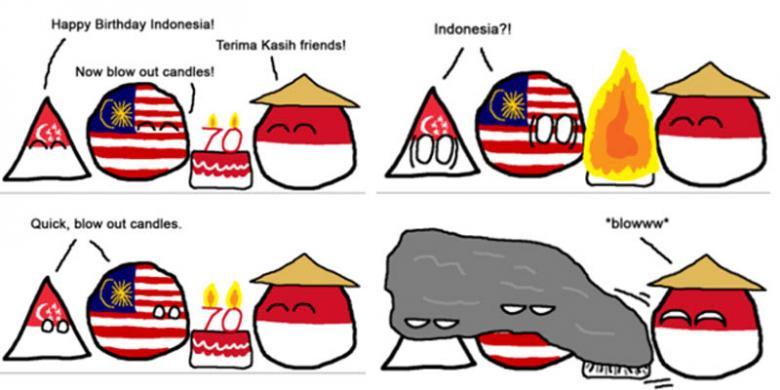 ... negara tetangga menyindir asap dari pembakaran lahan di Indonesia