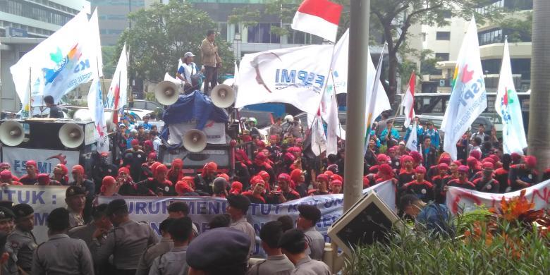 Kamis, Puluhan Ribu Buruh Akan Unjuk Rasa di Jakarta