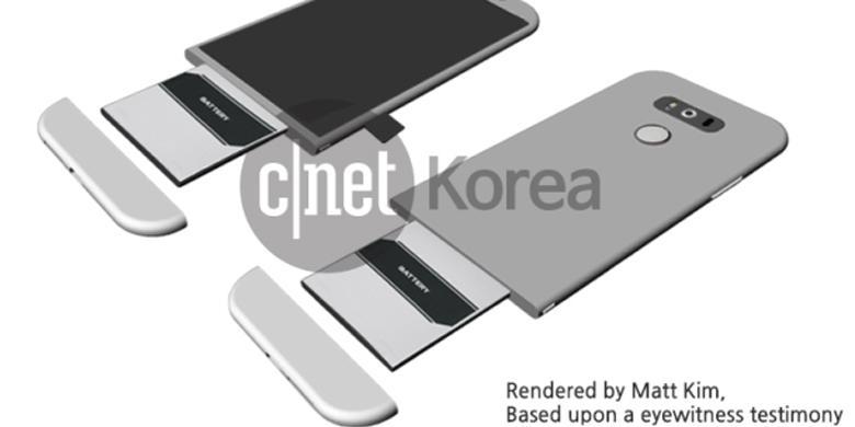 """LG G5 Dirumorkan Punya """"Rumah Baterai"""""""