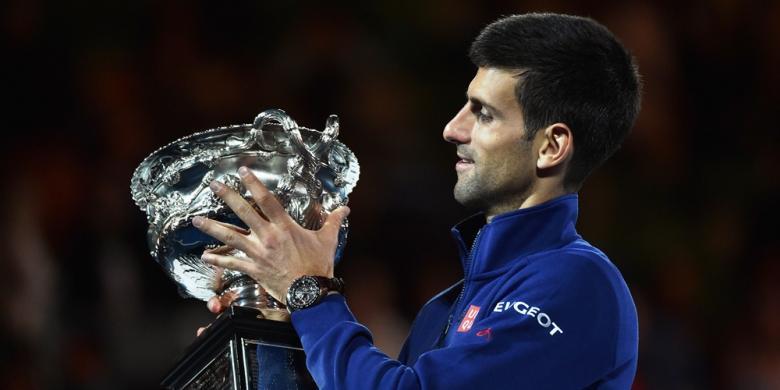 Novak Djokovic dan Kisah 6 Ciuman di Australia Terbuka