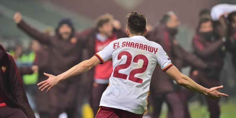 Salah dan El Shaarawy Bawa Roma Samai Inter