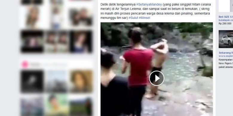 Detik-detik Tenggelamnya Sefanya Terekam Kamera dan Diunggah ke FB