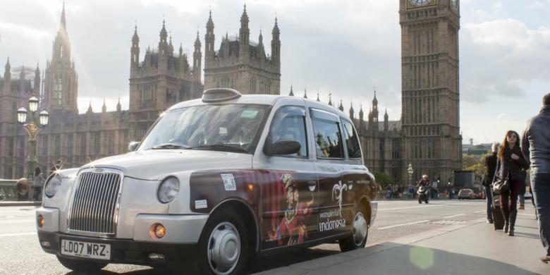 Taksi Di London Kembali Promosikan Pesona Nusantara
