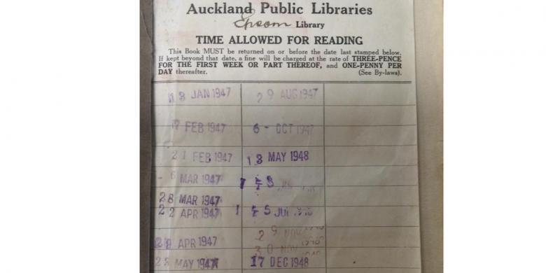 Seorang Wanita Kembalikan Buku Perpustakaan yang Dipinjam 67 Tahun Lalu
