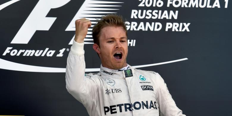 Finis Pertama di Rusia, Rosberg Catat Empat Kemenangan Beruntun
