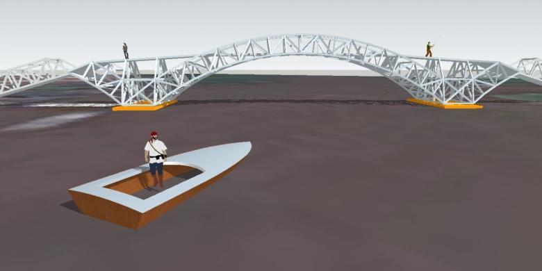 PU Akan Bangun Jembatan Apung Pertama di Indonesia