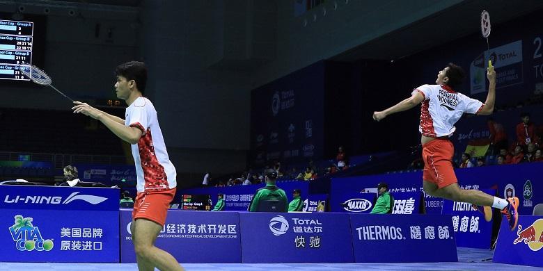 Ricky/Angga Pastikan Indonesia ke Semifinal Piala Thomas