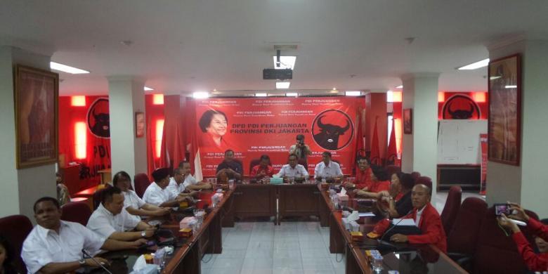 Pengurus Partai Gerindra DKI Sambangi Kantor PDI-P DKI