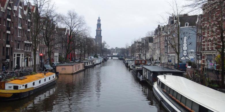 Wow…! Kanal-kanal Amsterdam Nan Cantik…