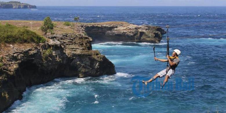 Wow! Ini Flying Fox Paling Ekstrem Di Bali, Berani Coba?