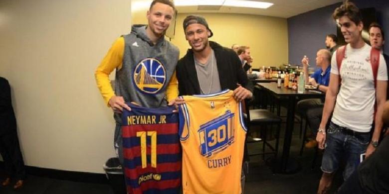 Ketika Neymar Bertemu Stephen Curry