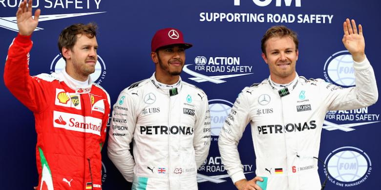 "Hamilton Kunci ""Pole Position"", Rio Alami Insiden"