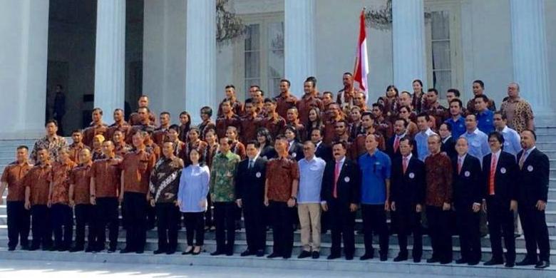 Kontingen Olimpiadi Rio 2016 Indonesia di Istana Negara | Kompas.com