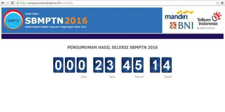 Siap-siap... Besok Pengumuman Ujian SBMPTN 2016!