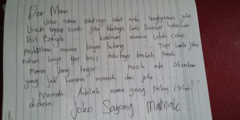 Remaja Ini Tulis Surat Wasiat untuk Ibunya Sebelum Gantung Diri