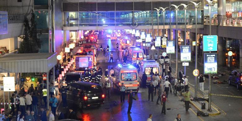 Serangan Bom di Bandara Ataturk Turki, Setidaknya 28 Orang Tewas