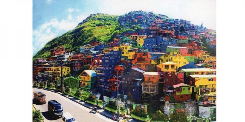 Instalasi mural warna warni buat kota ini lebih cantik for Mural yang cantik