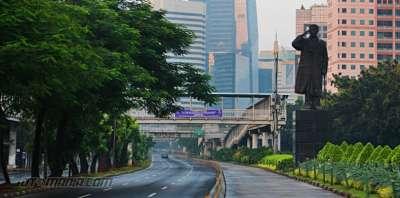 Senyapnya Kota Jakarta