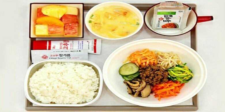 Menu Serba Korea, Ini Maskapai Kelas Ekonomi Dengan Katering Terbaik Di Dunia