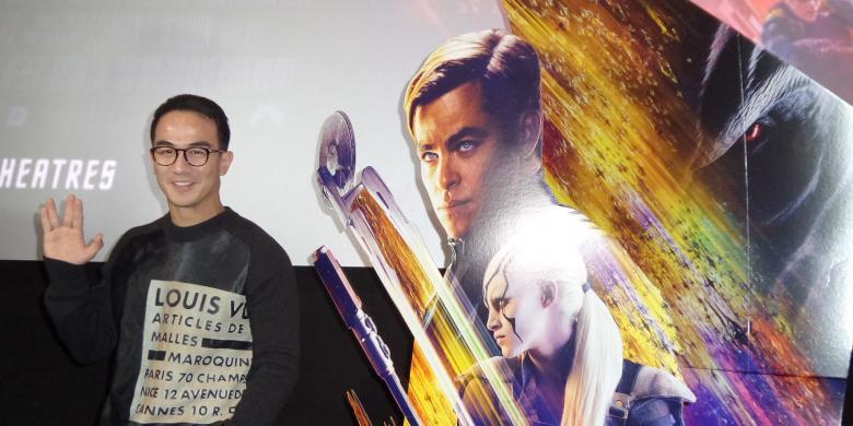 Artis peran Joe Taslim hadir dalam pemutaran film Star Trek Beyond, yang ia bintangi | kompas.com