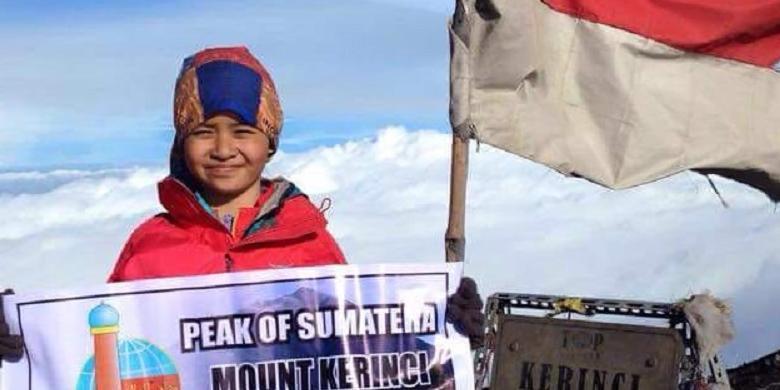 Inspiratif, Anak 10 Tahun Taklukkan Lima Gunung Tertinggi Di Indonesia