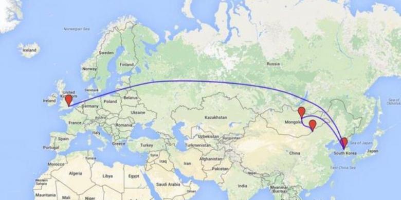 Mekanik Mobil Terbang dari London ke Mongolia untuk Perbaikan Selama 10 Menit