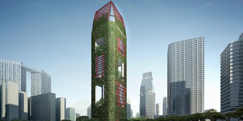 Oasia Hotel Downtown, Oase Di Tengah Kota Singapura