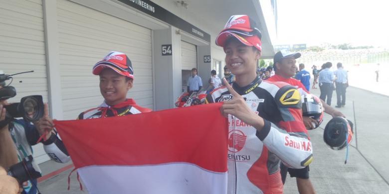 Irfan-Rheza Juara, Bendera Indonesia Berkibar di Sirkuit Suzuka