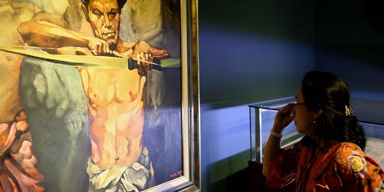 Pengunjung Keluhkan Alur Antrean Pameran Lukisan Istana