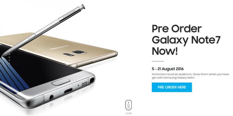 Galaxy Note 7 Bisa Dipesan Mulai Hari Ini Di Indonesia, Harganya?