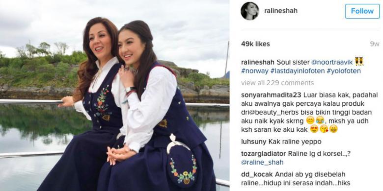 "Kisah Seru Raline Shah ""Traveling"" Ke Norwegia"