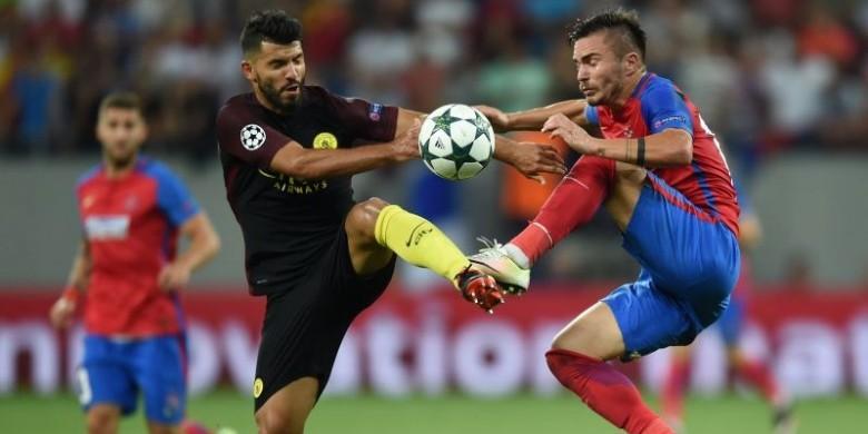 Aguero Terancam Sanksi FA karena Sikut Pemain West Ham